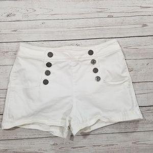 Express Women's Shorts white denim Size 10